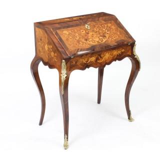 Antique French Kingwood Marquetry Bureau de Dame 19th C