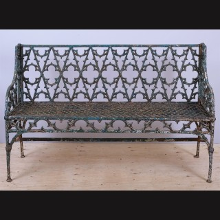 Mid-19th Century Val D'Osne Gothic Revival Cast Iron Garden Bench