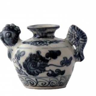 Ming Blue and White Chicken Headed Water Dropper
