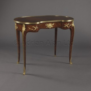A Fine Louis XV Style Petite Kidney Shaped Desk