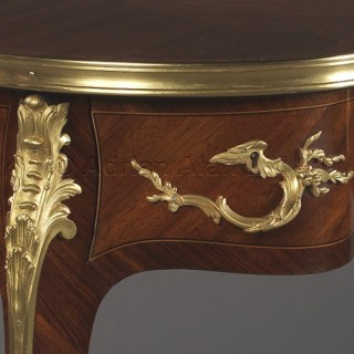 A Fine Louis XV Style Petite Kidney Shaped Desk