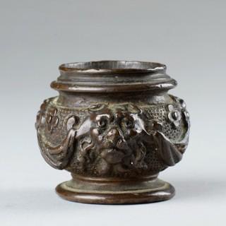 North Italian Renaissance Bronze Scribes Inkwell