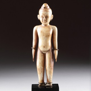 Thai 'Siam' Carved Ivory Effigy Figure of the Deity 'Kuman Tong'
