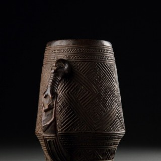 Democratic Republic of Congo Kuba Peoples Ceremonial Palm Wine Vessel