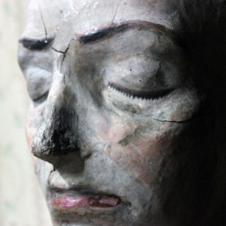 An Unusual 19thC European Painted Mask of a Lady