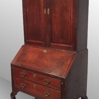 Geo II oak bureau cabinet.