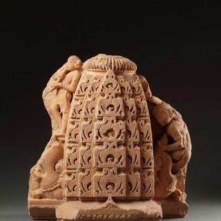 Ancient Central Indian Madhya Pradesh Buff Sandstone Shrine