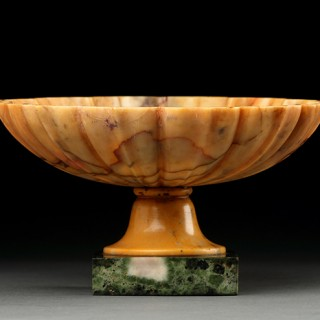 Italian 'After the Antique' Fluted Siennese Yellow Marble Tazza