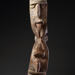 Papua New Guinea Lower Sepik Region Keram River Kambot Peoples Figural Wooden Men's Ceremonial House Post