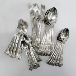 Antique Silver Canteen of Kings Cutlery