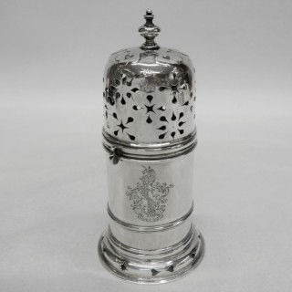 Antique James II Silver Sugar Caster