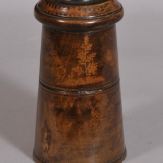 Antique Treen 19th Century Fruitwood Container