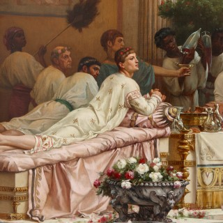 'A Summer Repast at the House of Lucullus', large oil painting by Boulanger