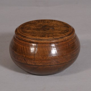 Antique Treen 19th Century Butter Bowl Known as a Mealey Beg
