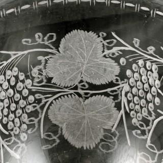 Large Engraved Glass Rummer
