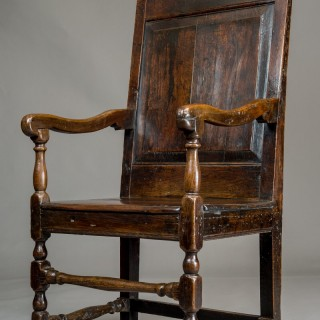 Welsh oak arm chair