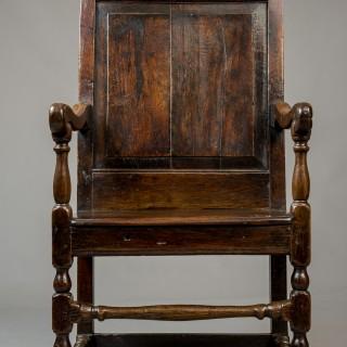 Welsh oak arm chair