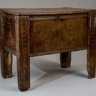 Early Welsh oak chest