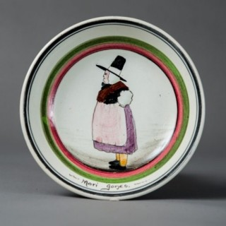Llanelly pottery Mari Jones plate