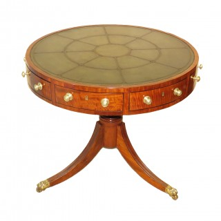 Antique Small Early 19th Century Georgian Mahogany Drum Table