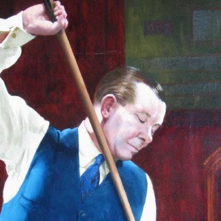 Joe Davis Billiard, Snooker Oil Painting