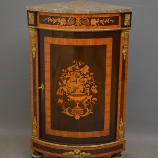 Attractive Continental Corner Cabinet