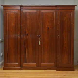 Early Victorian 4 Door Wardrobe in Padauk