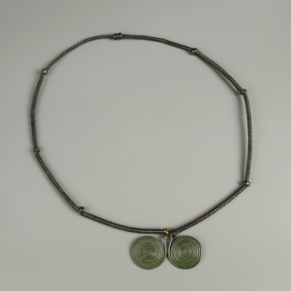 Bronze Age Necklace with Spiral Pendant