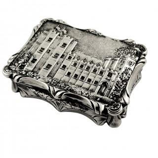 Antique Victorian Sterling Silver 'Kenilworth Castle' Vinaigrette 1847