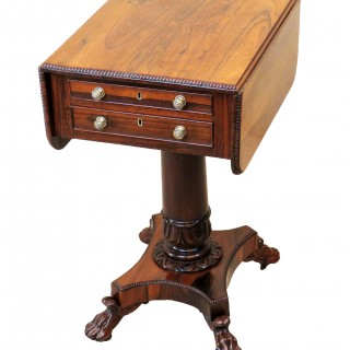 Antique Regency Rosewood Baby Pembroke Table