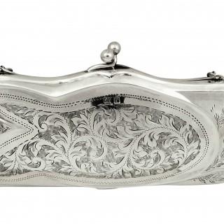 Antique Silver Purse 1916