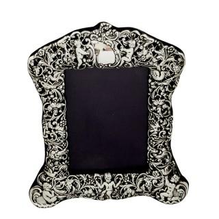 Antique Victorian Sterling Silver 'Cherubs' Photo Frame 1900
