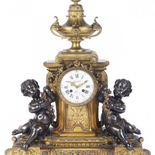 Large 19th Century Louis XVI style mantel clock.