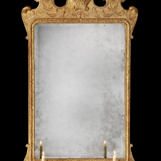 A George II Giltwood Mirror in the Manner of John Belchier