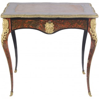 Small 19th Century French Boulle bureau plat.