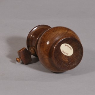Antique Treen 19th Century Fruitwood Spice Grinder