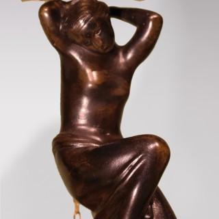 Early 19th Century Bronze & Ormolu Shell Pentray