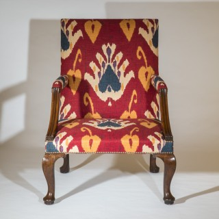 George II Walnut Library Armchair
