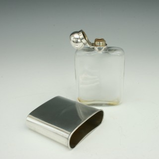James Dixon Silver Hip Flask