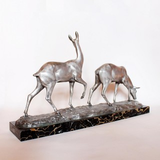 Art Deco Bronze Deer