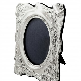 Antique Edwardian Sterling Silver Photo Frame 1902
