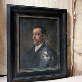 A Mid 19thC French School Oil on Canvas Portrait of a Gentleman c.1860
