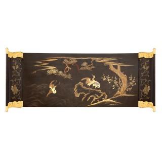 Japanese Meiji period lacquer maki-e cabinet