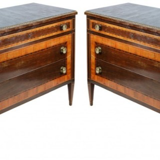 Pair 18th Century Style Italian Commodes