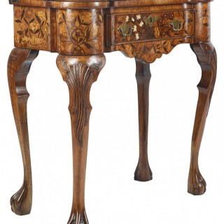 18th Century Dutch Marquetry Inlaid Card Table