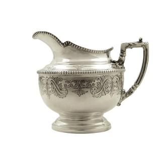 Antique Victorian Sterling Silver Jug 1890