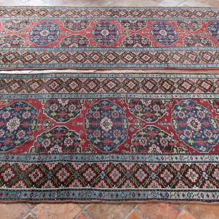 Pair of antique North-West Persian runners