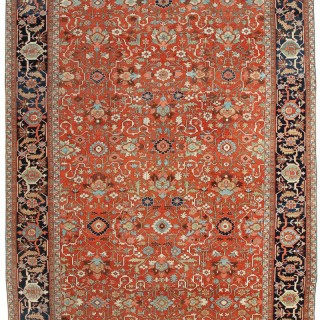 Rare Oversize Antique Heriz carpet