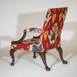 George II Red Walnut Gainsborough Armchair