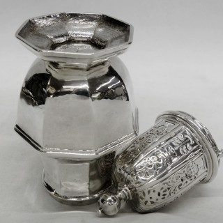 George I Octagonal Silver Caster